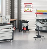 SalesBridges Worktrolley Warehouse Trolley SV with 2 or 3 levels Light Grey