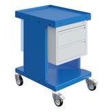 SalesBridges Chariot de travail  Chariot d'entrepôt SV à tiroirs Bleu Industriel