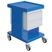 Chariot de travail  Chariot d'entrepôt SV à tiroirs Bleu Industriel