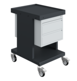 SalesBridges Worktrolley Warehouse Trolley SV with drawers Grey Anthracite