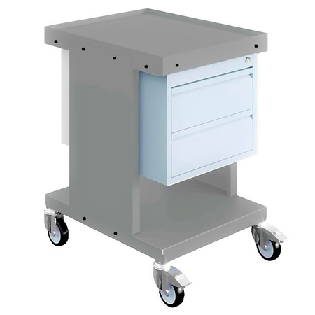 SalesBridges Worktrolley Warehouse Trolley SV with drawers Light Grey