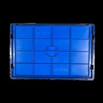 Deksel KLT R-KLT RL-KTL 60x40 cm Kratten  stapelbakken eurobox blauw