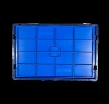 Couvercle pour bac KLT R-KLT RL-KLT de rangement 60x40cm bleu