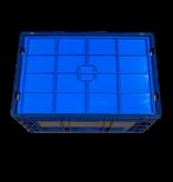 SalesBridges Couvercle pour bac KLT R-KLT RL-KLT de rangement 60x40cm bleu