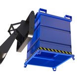 SalesBridges Benne en acier pour chariot à tête rotative 1000L 1000Kg VTR-modèle
