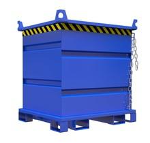 Bouwcontainer voor roterende vorkenklem met Hijsogen 1000L 1000Kg VTR-model