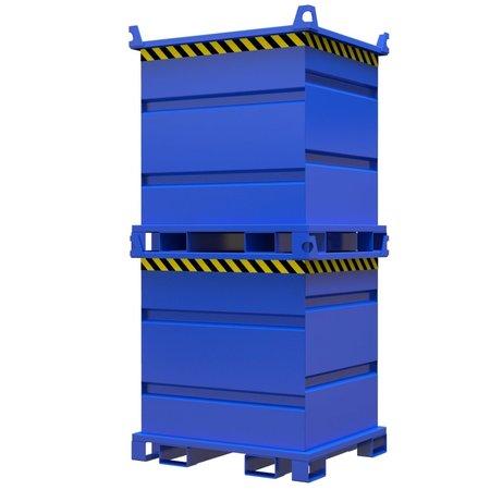 SalesBridges Bouwcontainer voor roterende vorkenklem met Hijsogen 1000L 1000Kg VTR-model