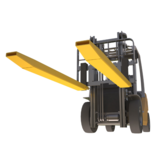 Forks extenders sleeves 1600mm for forklift with security pin