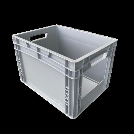 SalesBridges Plastic Kratten  60x40x27 cm met grijpopening Eurobox  container Stapelbak