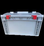 SalesBridges Eurobox Universal 40x30x18,5 cm with lid open handle Euro container KTL box Closed handle