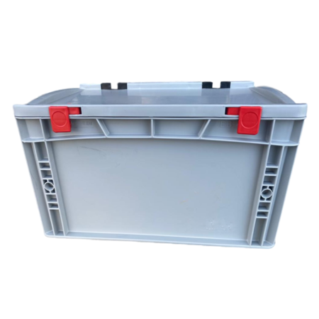 SalesBridges Eurokrat Universeel 40x30x18,5 cm met deksel Eurobox Plastic container  Gesloten handvat