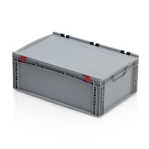 Eurobox Universal 60x40x23.5 cm with lid open handle Euro container KTL box Superdeal