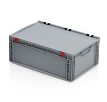 Eurobox Universal 60x40x23,5 cm avec couvercle poignée ouverte Conteneur Euro KTL box Superdeal