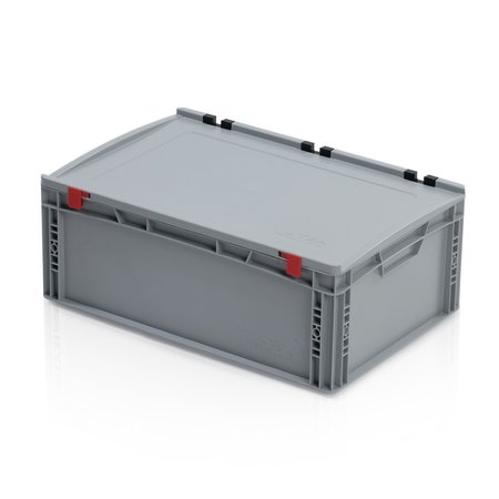 SalesBridges Eurobox Universal 60x40x23,5 cm with lid open handle Euro container KTL box Superdeal