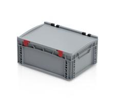 Eurokrat Universeel 40x30x18,5 cm met deksel Eurobox Plastic container  Gesloten handvat