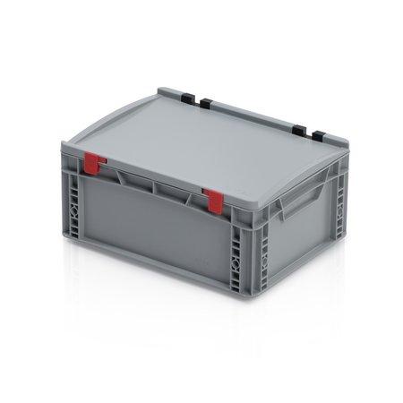 SalesBridges Bac de rangement 40x30x18.5 cm couvercle intégré conteneur en plastique  poignée fermée