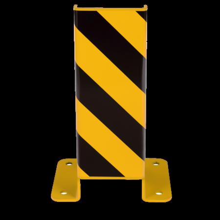 SalesBridges Crash Protection Guards 5mm Steel U-Profile for racks H40cm