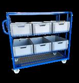SalesBridges Gaaswagen  Order Picking Etagewagen Magazijnwagen Rolcontainer voor eurobox e-commerce