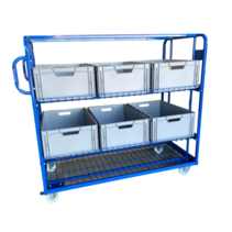 Order Picking container 130x65x123cm Rollcontainer trolley
