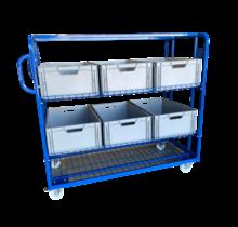 Mesh Trolley  Order Picking Mesh Shelf Trolley Rollcontainer for europbox e-commerce