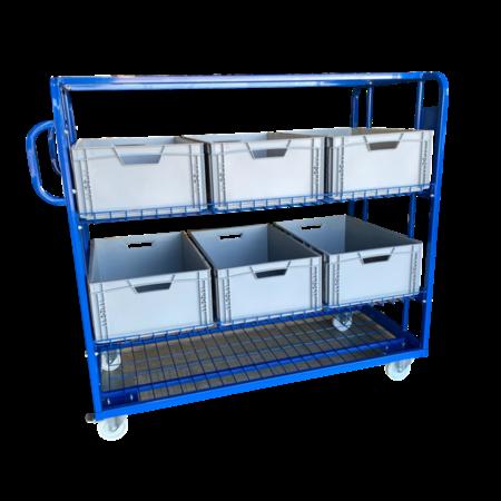 SalesBridges Chariot en filet de préparation de commandes pour magasin e-commerce pour bac de rangement