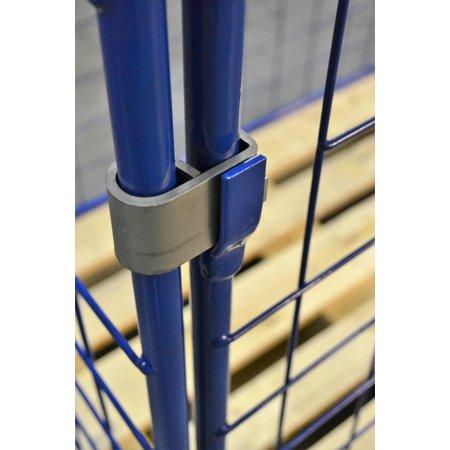 SalesBridges Opzetrand Gaascontainer voor Europallet staal H800mm Klapraam aan korte zijkant