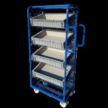 Chariot  préparation de commandes 70x40x156cm pour magasin e-commerce