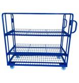 SalesBridges Mesh Trolley  Order Picking Mesh Shelf Trolley Rollcontainer for europbox e-commerce