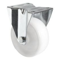 Fixed wheel 100mm 100kg Nylon Polypropylene white