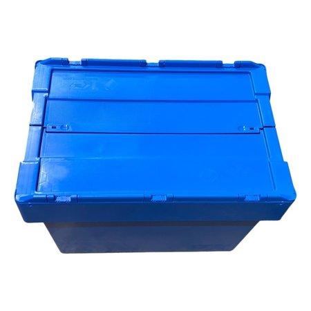 SalesBridges ALC krat 60x40x44 cm Eurobox ALC Bakken blauw met deksel