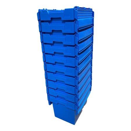 SalesBridges ALC bac en plastique 60x40x44 cm Bleu avec couvercle