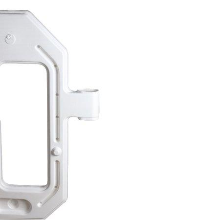 SalesBridges Barrière rapide plastique 2000 x 1000 mm Blanc avec réflécteur
