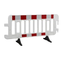 Barrier Fences plastic 2000 x 1000 mm White with reflector