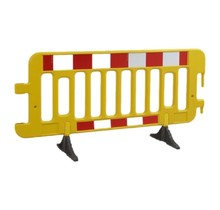 Barrier Fences plastic 2000 x 1000 mm Yellow with reflector