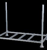 SalesBridges Barrier Fences 2000 x 1000 mm White - 15 pcs + transportation rack