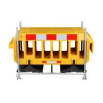 Barrière 2000 x 1000 mm Jaune - 15 pieces + support de transport