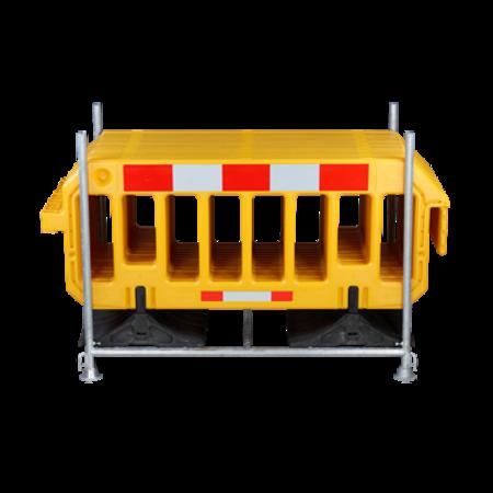 SalesBridges Barrière 2000 x 1000 mm Jaune - 15 pieces + support de transport
