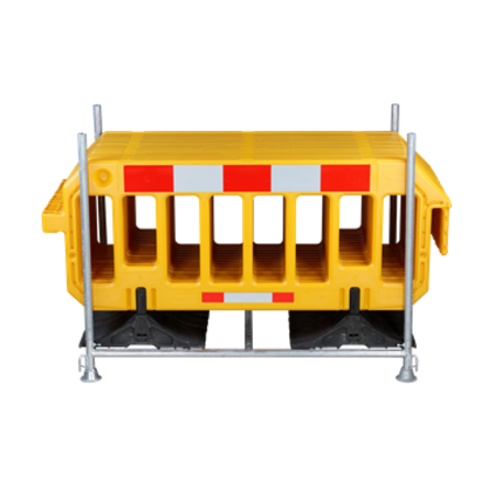 SalesBridges Barrier Fences plastic 2000 x 1000 mm Yellow with reflector