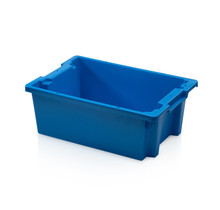 Plastic Stacking Crate 60x40x22cm  Blue Nestable