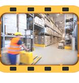 SalesBridges EUvex Miroir Industriel Rond/Rectangle Pro cadre noir/jaune