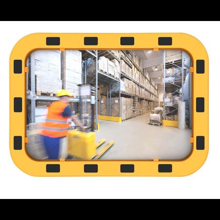 SalesBridges EUvex Industrial Mirror Round/Rectangle Pro black/yellow frame