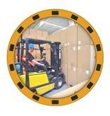 SalesBridges EUvex Industrieel Spiegel Rond/Rechthoek Pro zwart / geel frame