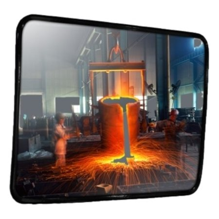 SalesBridges Industrial mirror stainless steel (inox)  Round / Rectangle resistant to temperatures up to 350 ° C