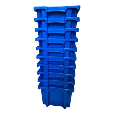 SalesBridges Bac de rangement  Empilable Plastique 40x30x22cm Bleu Emboîtable