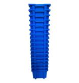 SalesBridges Plastic Stapelkratten 40x30x22cm Blauw Nestbaar