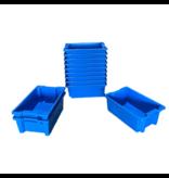 SalesBridges Bac de rangement  Empilable Plastique 60x40x22cm Bleu Emboîtable
