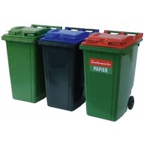 Plastic Rollcontainers Dustbins Minicontainer on Wheels 360L Black