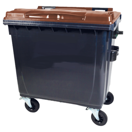 SalesBridges 4 wheeled collection waste bin 770L Black