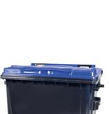 SalesBridges 4 wheeled collection waste bin 1100L Black