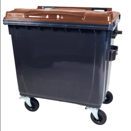 SalesBridges Afvalcontainer 1100L op wielen Groen DIN-opname